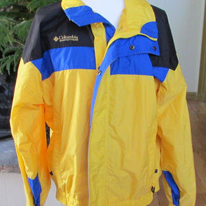 Yellow, blue, black Windbreaker Jacket by Columbia